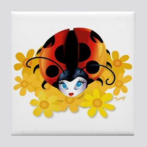 Pretty Ladybug Tile Coaster