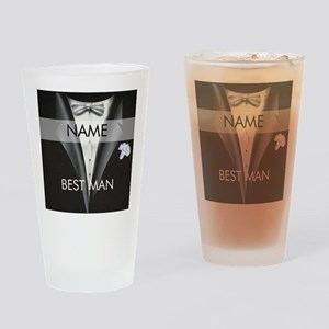 Best Man Name Tag Drinking Glass