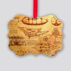 Steampunk Airship Picture Ornament