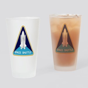 Space Shuttle Patch Drinking Glass