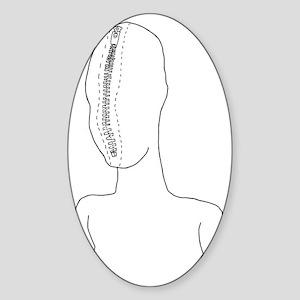 zipperhead2 Sticker (Oval)
