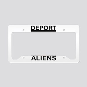 DEPORT ALIENS License Plate Holder