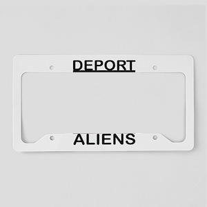 DEPORT ALIENS License Plate Holder