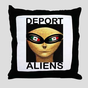 DEPORT ALIENS Throw Pillow
