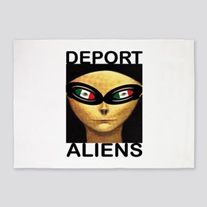 DEPORT ALIENS 5'x7'Area Rug