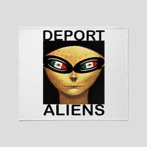 DEPORT ALIENS Throw Blanket
