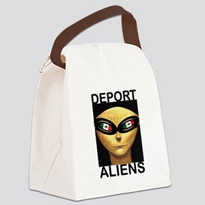 DEPORT ALIENS Canvas Lunch Bag