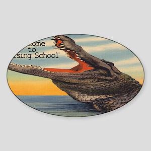 Welcome to Nursing School Sticker (Oval)