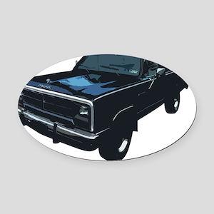 Dodge Power Ram Pickup Truck Oval Car Magnet