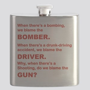 WHY DO WE BLAME THE GUN Flask