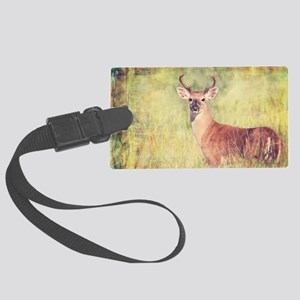 White Tailed Buck Large Luggage Tag