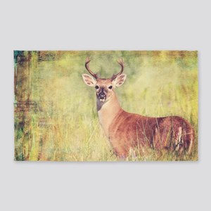 White Tailed Buck 3'x5' Area Rug
