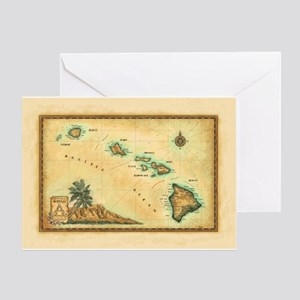 Hawaii map Greeting Card