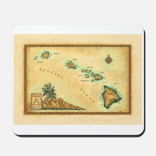Hawaii map Mousepad