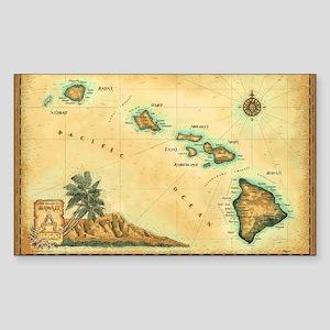 Hawaii map Sticker (Rectangle)