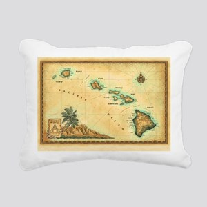 Hawaii map Rectangular Canvas Pillow
