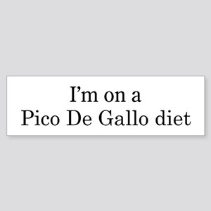 Pico De Gallo diet Bumper Sticker