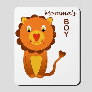 Momma's Boy - a lion Mousepad