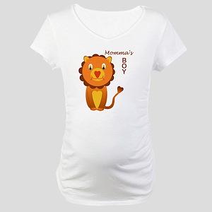 Momma's Boy - a lion Maternity T-Shirt