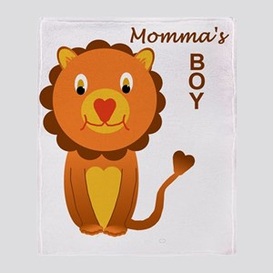 Momma's Boy - a lion Throw Blanket