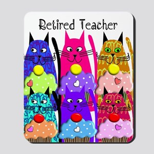 retired teacher 2 Mousepad