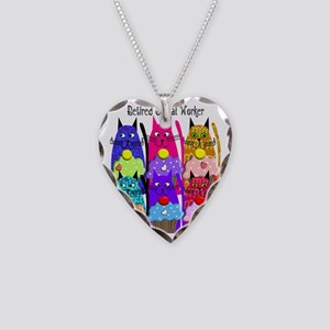 retired social worker 1 Necklace Heart Charm