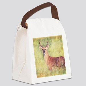White Tailed Buck Canvas Lunch Bag