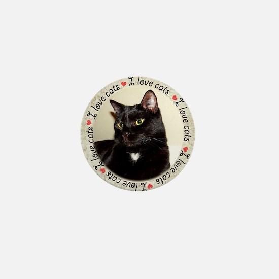 I Love Cats Mini Button