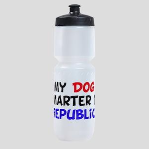 dog smarter republican copy Sports Bottle