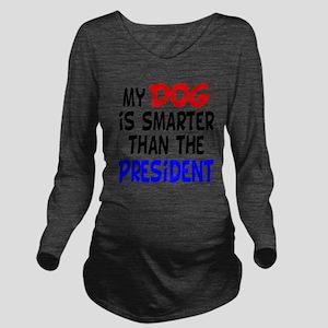 dog smarterz-1 Long Sleeve Maternity T-Shirt