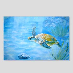 Underwater turtle Postcards (Package of 8)