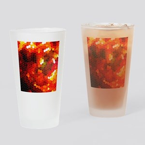 Fiery red Drinking Glass
