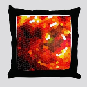 Fiery red Throw Pillow
