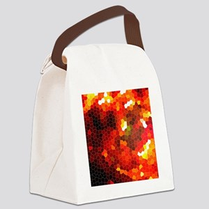 Fiery red Canvas Lunch Bag