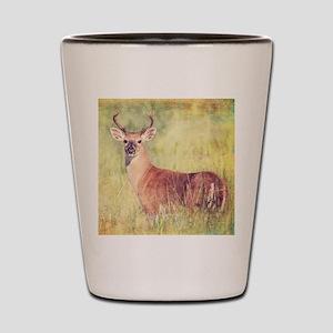 White Tailed Buck Shot Glass