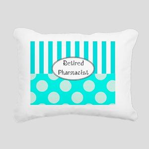 Retired Pharmacist apron Rectangular Canvas Pillow