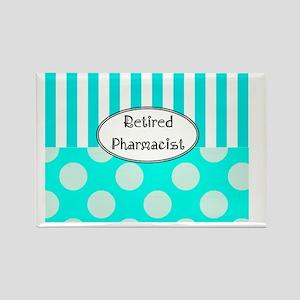 Retired Pharmacist apron blue Rectangle Magnet