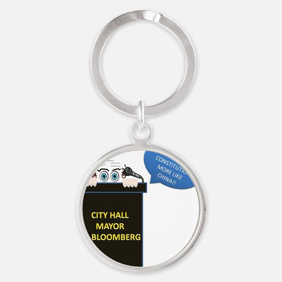 Mayor Round Keychain