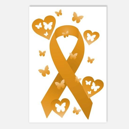 Orange Awareness Ribbon Postcards (Package of 8)