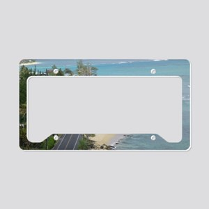 Kamehameha Hwy Oahu License Plate Holder