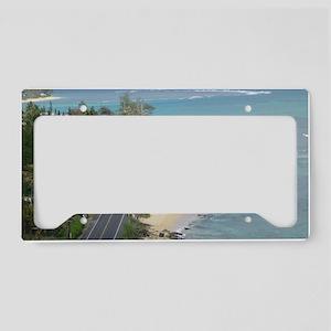Kamehameha Hwy Oahu License Plate Holder