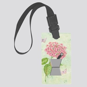 pest and mort hydrangea 2 Large Luggage Tag