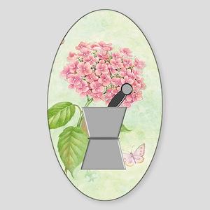 pest and mort hydrangea 2 Sticker (Oval)