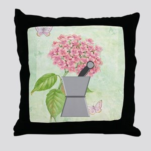 pest and mort hydrangea 2 Throw Pillow