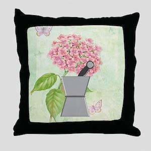 pest and mort hydrangea 2 Throw Pillow