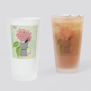 pest and mort hydrangea 2 Drinking Glass