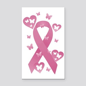 Pink Awareness Ribbon Rectangle Car Magnet