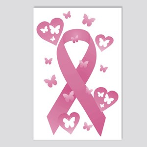 Pink Awareness Ribbon Postcards (Package of 8)