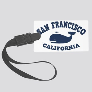 souv-whale-sf-ca-CAP Large Luggage Tag