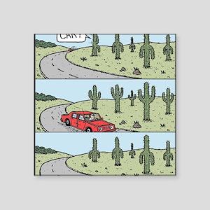 "Cacti arms Square Sticker 3"" x 3"""